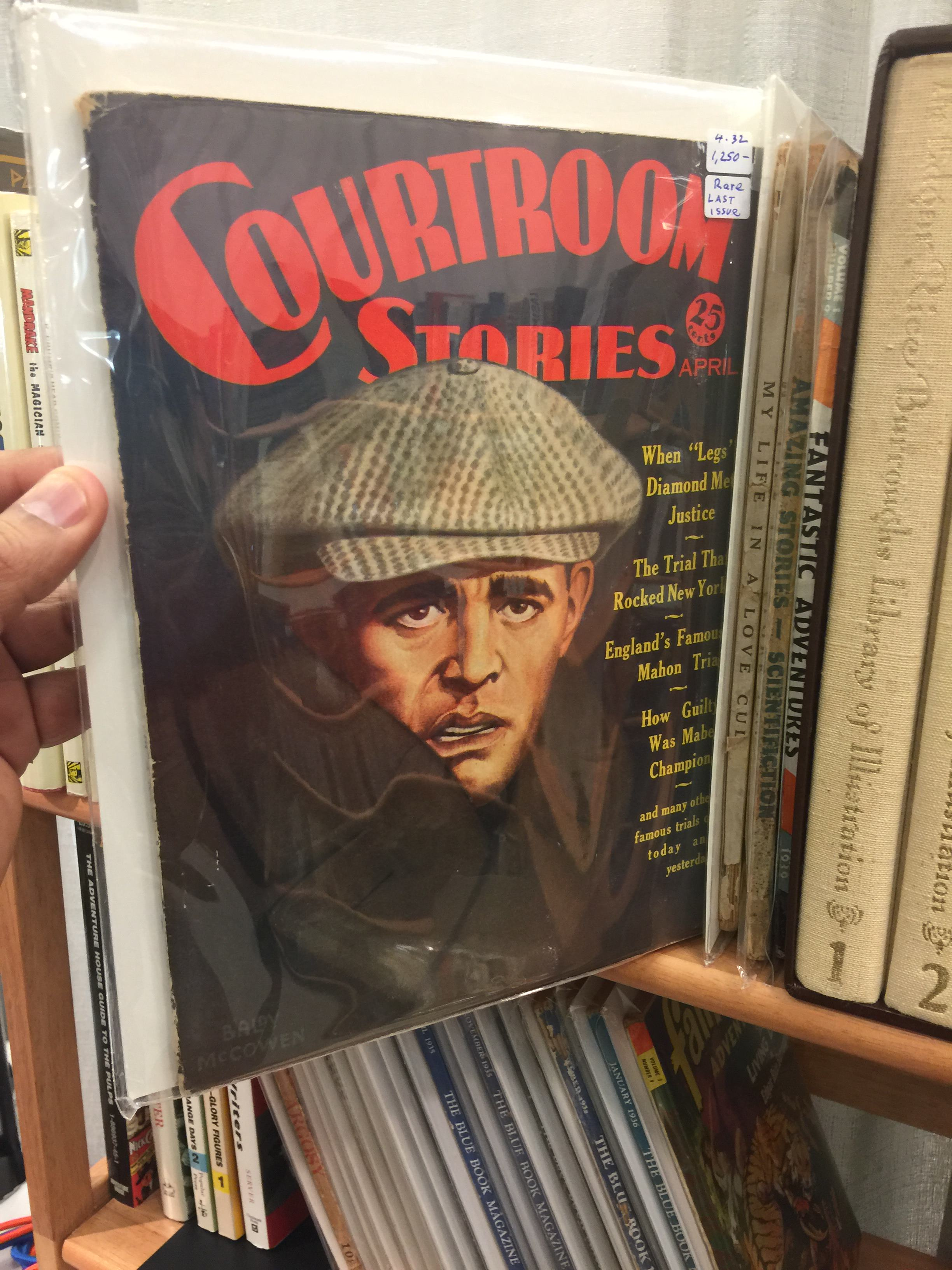 And more on the shelves, Courtroom Stories April 1932